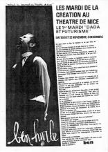 page publiée dans la revue Reg'Art de Ben, mai 1977