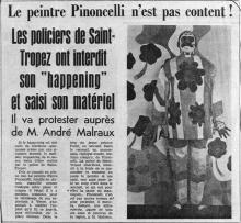 Article relatant l'événèment publié dans L'Espoir - Nice.
