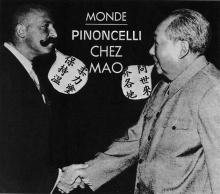 Pinoncelli chez Mao: montage photographique à partir d'une page de l'Express n°1077 du 05/03/1972