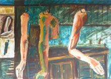 L'une des peintures exposées