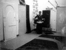 l'atelier transformé en studio de télévision