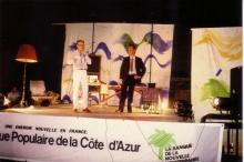 Patrick Moya et Joël Ducorroy sur scène
