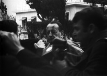 """Photographie d'André Malraux après """"l'attentat"""""""