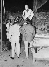 Arrestation de Pinoncelli au moment du meurtre du cochon