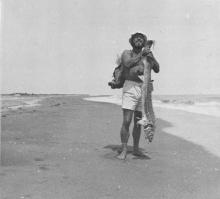 A pied, le long de la mer Caspienne, photographie du voyage
