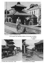 Photographies du voyage (montage photographique) : Pinoncelli à bicyclette au Népal
